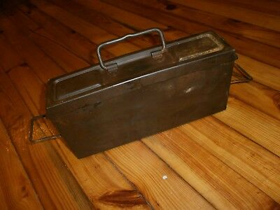 WW2 Iron Box for Belt for MG34 or MG42 Original Germany