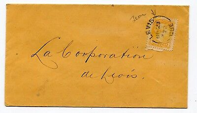 Canada QC Quebec - Levis 1878 Split Ring - Small Queen Local / Unsealed Cover