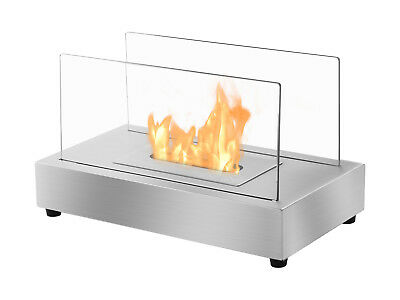 Tower Stainless Steel - Ignis Ventless Tabletop Bio Ethanol Fireplace