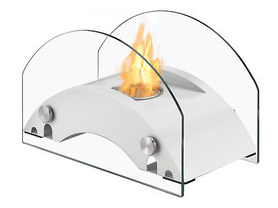 Harbor White - Ignis Ventless Tabletop Bio Ethanol Fireplace - Eco Friendly