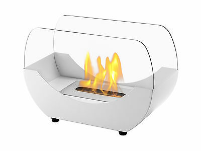 Liberty White - Ignis Ventless Tabletop Bio Ethanol Fireplace - Eco Friendly