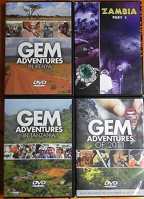 "Four Videos produced by the ""GENUINE GEMSTONE COMPANY"""