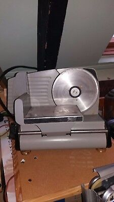 used small industrial electric meat slicer thickness adjustable