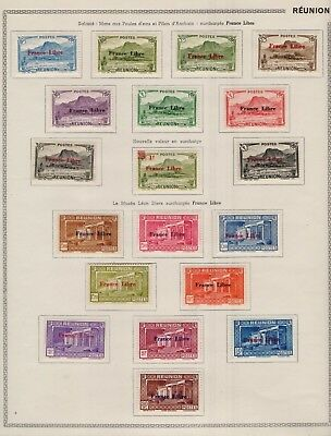 173 Timbres Neufs  Reunion Series Completes  S/c Feuilles Thiaude 1939/1959