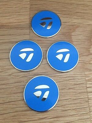 Set of four Blue TaylorMade Magnetic golf ball markers               tblu4
