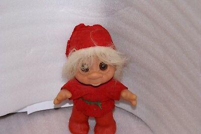 1980 Dam Troll Red Felt Outfit AS IS