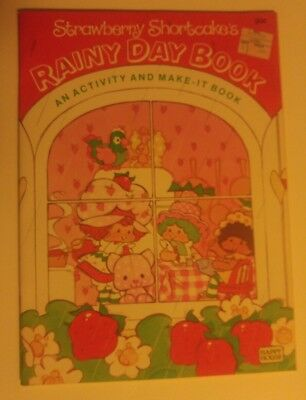 Strawberry Shortcake vintage Rainy Day Book activity and make it book NEW