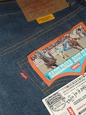 Vintage LEVIS 517 MADE IN USA Red Tab 36x31 Authentic Denim Jeans #2 TALON 42