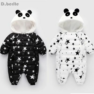New Born Baby Winter Clothes Outerwear Down Coats Rompers Windproof Warm Hooded