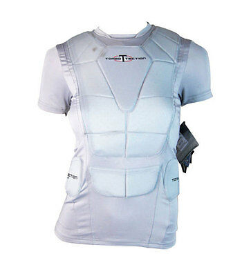 Easton Torso Tection Padded Baseball Batting Top Vest (Grey) - Youth L