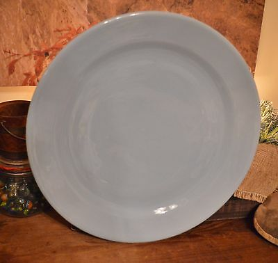 "Vintage Antique Taylor Smith Lu Ray LuRay Pastels Windsor Blue 14"" Chop Plate"