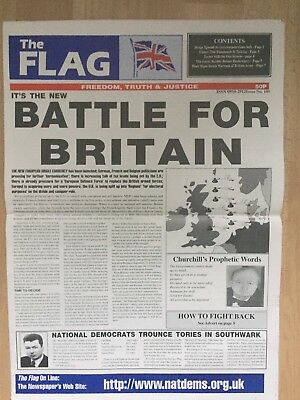 The Flag Newspaper 1997 No 105 National Front NF British National Party BNP