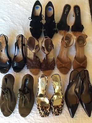 Women's Used Lot Of Designer Heels Size 8 Bcbg Nine West Ann Taylor Guess Mixed