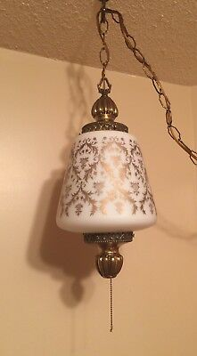 Hollywood Regency Electric Swag Lamp