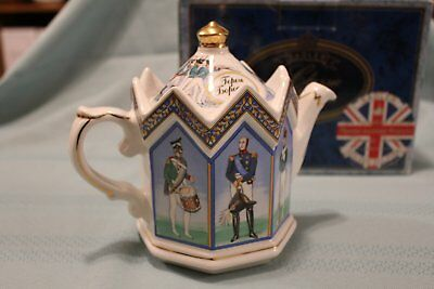 """Sadler Teapot-Historical Series Russian Collection """"HEROES OF BORODINO 1812"""""""