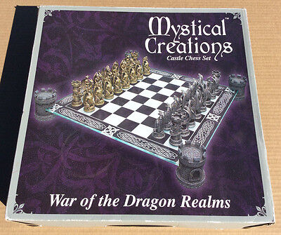Mystical Creations War Of The Dragon Realms Castle Chess Set  *Great Condition*