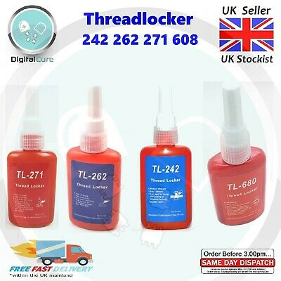 242 262 271 Thread Locker Sealant Ultra High Medium Strength 50ml - Loctite