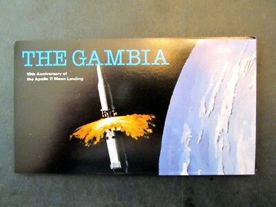 GAMBIA, 10th ANNIVERSARY of APOLLO 11 ADHESIVE STAMP BOOKLET (1979) MINT