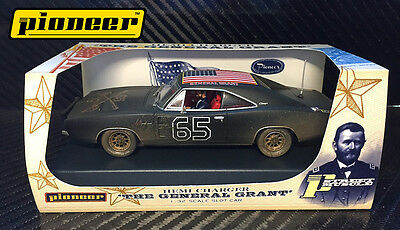 Pioneer Slot Car Dodge Charger 'dirty Black' General Grant Special Edition