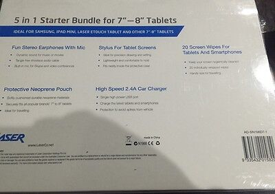 Laser 5 in 1 starter bundle for 7-8 tablets