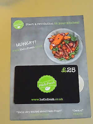 £25 OFF GIFT CARD 'HELLO FRESH' RECIPE FOOD BOX DELIVERY Voucher Discount Coupon