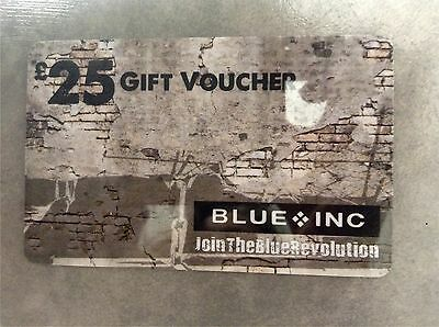 Unused £25 Value BLUE INC. Clothing Store GIFT CARD VOUCHER Credit Discount