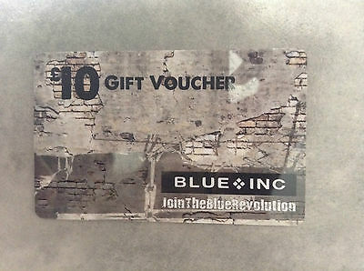 Unused £10 Value BLUE INC. Clothing Store GIFT CARD VOUCHER Credit Discount