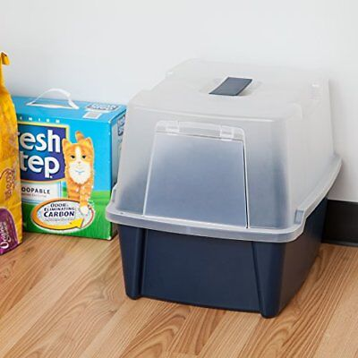 extra large hooded cat litter box cabinet cover bluegray xlarge usa