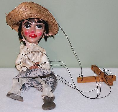 Vintage String Marionette Puppet Woman