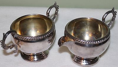 Wm A. Rogers Silverplate Cream and Sugar Set 9236