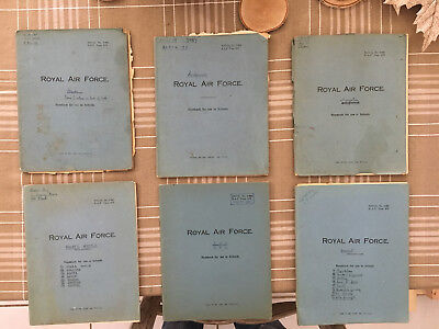 British World War 2 Piolit Log and Study Note Books - Lot of 21 Books