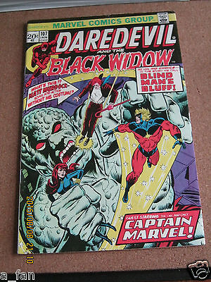 Daredevil #107 January 1974 Black Widow Captain Marvel Comics