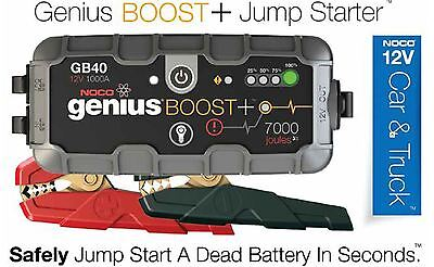 NOCO Genius GB40 12V 1000 Amp Lithium Portable Jump Starter Pack