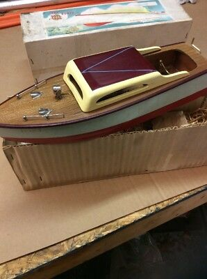 1954, Wooden Power Boat, Toy, Impy Cabin Speedster,