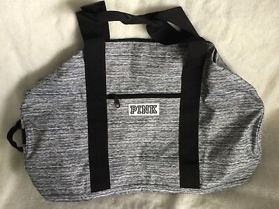 Victoria's Secret PINK Limited Edition Weekender Duffle Gym Book Bag NWOT! GRAY