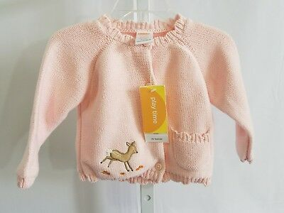Gymboree NWT Infant Girl Pink Knit Cardigan Sweater 6-12 Months