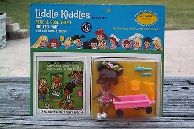 "Vintage Mattel ""rare"" Rolly Twiddle Liddle Kiddle  Doll Mip In Nice Condition"