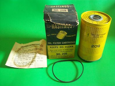 Vintage Hastings Oil Filter Cartridge No. 209 1956 & 1957 Chevrolet V-8 ~ NOS