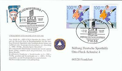 Germany special FDC stamp + cut from PS Basketball fb87