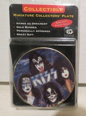 "sealed KISS MINI 1997 Gartlan Plate ""Rockers and Rulers"" 24k band"