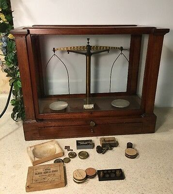 Antique RARE Large Precision Apothecary Gold Scale w/ Weights Becker & Sons NY