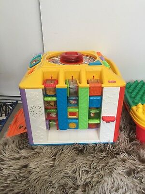 GREAT CONDITION Retro Fisher Price Toy With 36 Blocks Valued At $130!