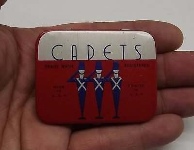 Vtg Three Cadets Condom Tin Box Of 3 Prophylactics Manufactured By  Julius Empty