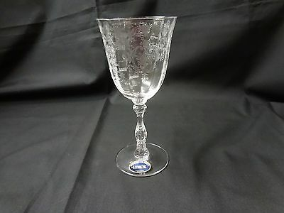Lenox Crystal - Navarre - Clear Etched Wine Glass