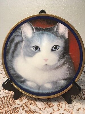 Collectors Cat Plate 8""