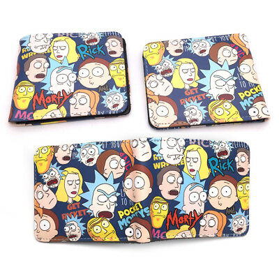 New Rick and Morty Leather 12cm Bifold Wallet Purse Money Collection Cool Gift