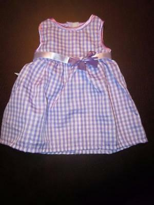 LAVENDER GINGHAM DRESS Fits CHATTY CATHY FREE SHIPPING