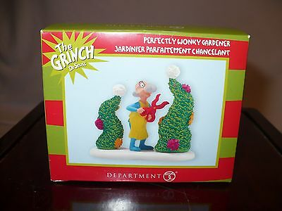 Department Dept 56 Grinch Village Perfectly Wonky Gardener Dr. Seuss NIB