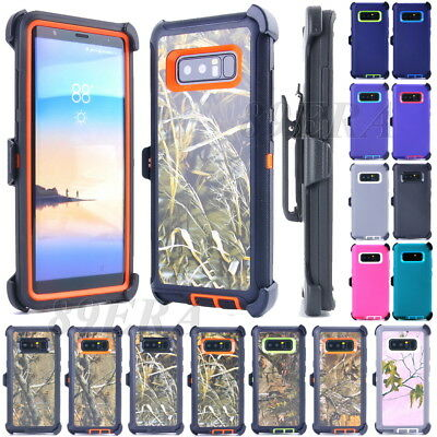 Shockproof Case Combo Shell, Belt Clip Fit Otterbox For Samsung Galaxy Note 8