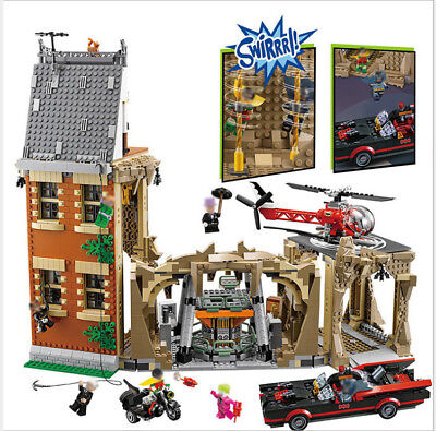 Lepin 07053 DC Batman Super Heroes MOC Batcave Building Blocks Brick Toys 76052